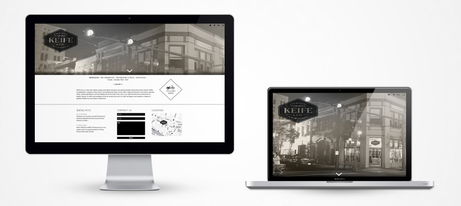 The New Keife and Co Website -  Fine wine merchants in New Orleans - Featuring, about, social feed, contact, and location.