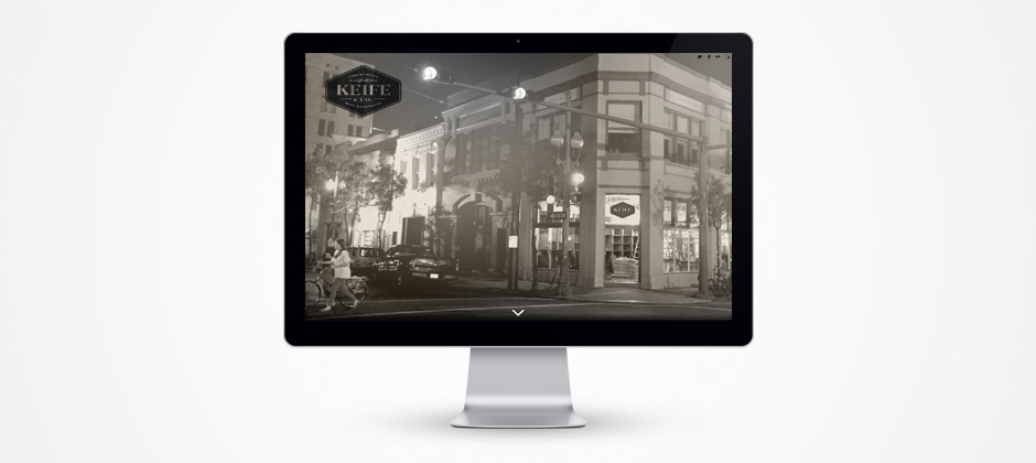 Street view photo of Keife and Co fine wine merchants in New Orleans website design