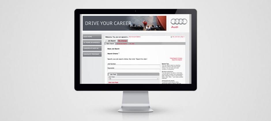 Volkswagen-group-of-america-website-design-display-audi-drive-your-career