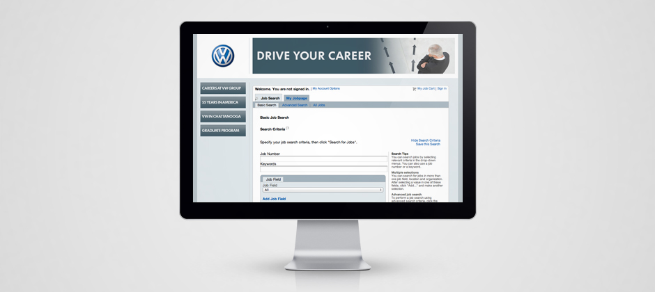 Volkswagen-group-of-america-website-design-vw-display-drive-your-career