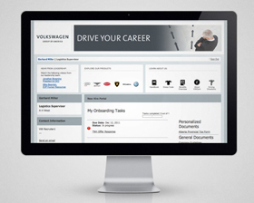 The Volkswagen family (VW, Audi, Lamborghini, Bently, Bugatti, and VW Credit) contacted us to design webpages to be used as a employee job board & onboarding system. Volkswagen is a company that knew exactly what they wanted, but their team was also very receptive to fresh ideas. With a solid style guide in hand we set out to make a design (within the Taleo development system) that reflected the VW Corporation's dedication to their employees.