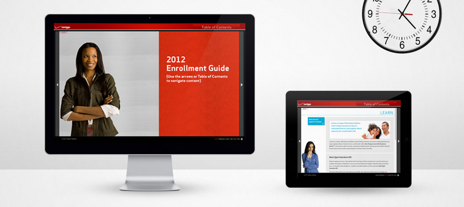 Verizon-communications-website-design-enrollment-guide-front-and-inside