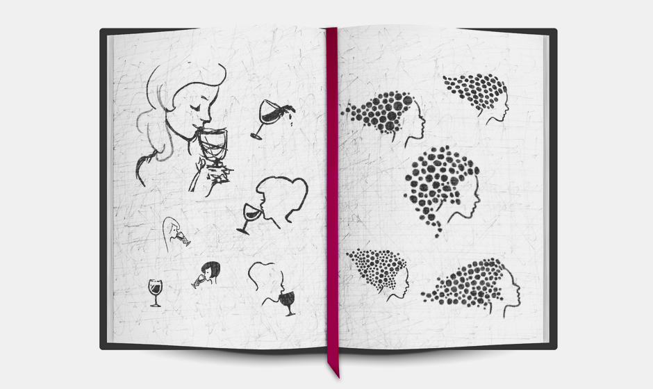 Bizou-wines-logo-sketches-notebook